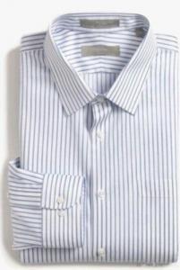 China Men's Trim Fit Stripe Dress Shirt on sale