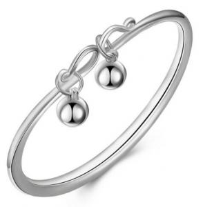 China latest fashion bangles Unisex sterling silver baby bangles Gift 925 sterling silver jewelry on sale