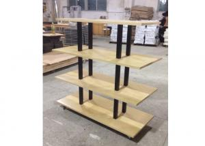 Quality Many Layers Wood Shelf Retail Gondola Shelving , Middle Convenience Store for sale