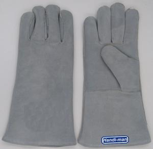 China 14 inch Split Leather Safety Welding Gloves Working Gloves on sale