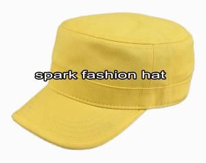 Quality 100% cotton yellow plain military army cap for sale