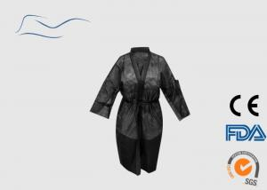 China Women Disposable Kimono Robe Black Color Long Sleeves Opening Cuffs Type on sale