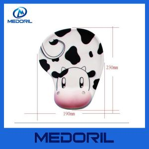 China China supplier custom printed silicone material gel mouse pads with hand rest on sale