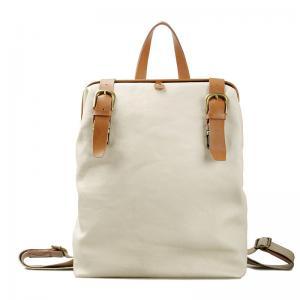 China Preppy Ladies Canvas Handbags Backpack For School , Adjustable Strap on sale