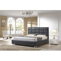 China Modern Italian Leather Beds For Hotel Project And Apartment Simple Design on sale