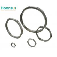 Metallic Standard Hex Lock Nut Nickel Plated Brass For Tightening Cable Gland