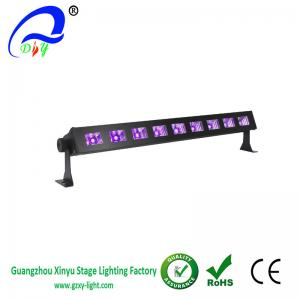 quality black light bar with 9x3w uv led bar in metal housing for party for sale