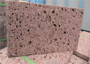 China 400*600mm Red Volcanic Rock Lava Stone Cultured Stone Floor Tile on sale