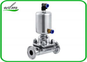China Fast Assembly Sanitary Diaphragm Valve , Straight Through SS Diaphragm Type Valve on sale