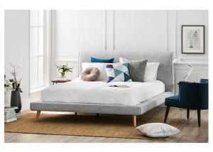 China Modern Upholstered King Bed Sets , Solid Wood Bedroom Furniture Sets on sale