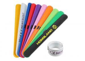 China Promotional Silicone Slap Wristband High Durability For Outdoor Concerts on sale