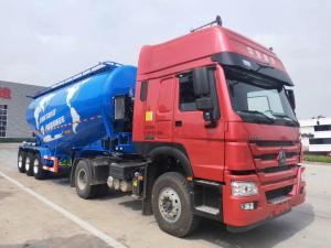 China 60 Tons Bulk Cement Tanker , Cement Tanker Truck 3 Axles With Wechai Motor on sale