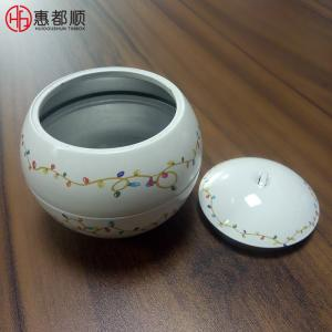 China Custom Small Empty Decorative Metal Candle Tins Box with Lid on sale