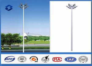 China Dodecagonal Hot dip galvanized led High Mast Light Pole 15m Height 5mm Thickness on sale