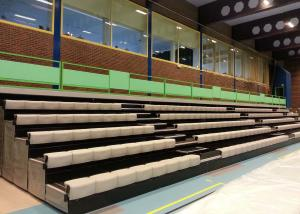 China Telescopic Stadium Seating Systems Custom Color With Recessed Platform on sale