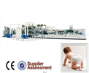 China Full Servo Machine For Manufacturing Baby Diaper on sale