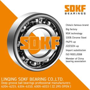 China SDKF 6304-2RS-ZZ High Standard Precision Chrome Steel Deep Groove Ball Bearing on sale