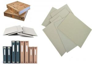 China Foldable and anti bending Book Binding Grey Paper Board for hard book cover on sale