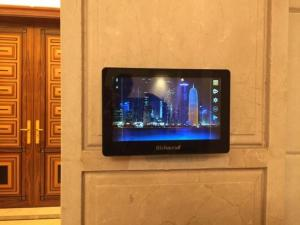China Wall mounting touch screen tablet pc with POE and RS485 for smart building automation on sale