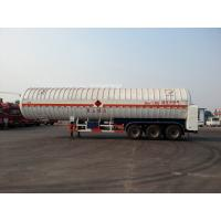 China Double Layered Gas Tank Truck 56000L 3x13T FUWA Alxe Cryogenic LNG Tank on sale
