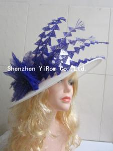 China YRSM14077  sinamay hat,cocktail hat,feather hat,church hat,derby hat on sale