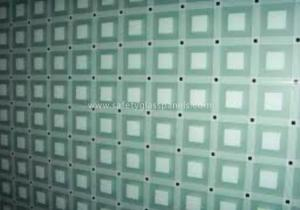 China Light Green Digital Silk Screen Printing On Glass , Commercial Glass Doors on sale