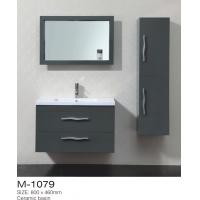 China Wall Mounted White Premade Bathroom Vanities And Cabinet Sets , Bathroom Side Cabinet on sale