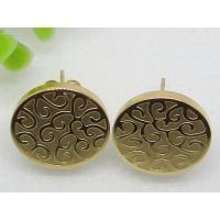 Golden Engraved Designs Stud Earrings 1320406