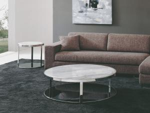 Quality Round Marble Top End Table, Modern Living Room Sofa Side Tables for sale