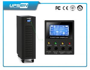 China Black 3 Wires 400 VAC Three Phase High Frequency Online UPS Long Run Type on sale