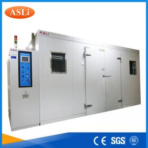 China Touch Screen Programmable Walk In Stability Chamber 3rd Party Calibrated SGS Stainless Steel on sale