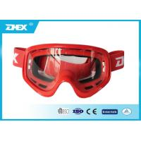 Customized Flexible Motorcycle Goggles , Women Motorcross Glasses