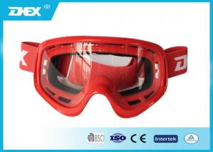 China Customized Flexible Motorcycle Goggles , Women Motorcross Glasses on sale