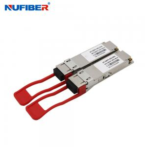China 40Gb/s QSFP Transceiver QSFP-40G-ER4 40km 1310nm SMF DOM Transceiver Module on sale