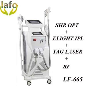 China 4 in 1multi-functional shr e-light rf ipl laser machine for hair removal and tattoo removal on sale