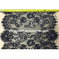 """18"""" Floral Double Sided Eyelash Lace Trim By The Yard 100% Nylon"""