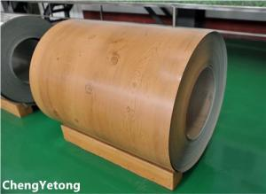 China PE Coating Stainless Steel Sheet Coil , Wood Grain Stainless Steel Sheet Roll Weight ≤8T on sale