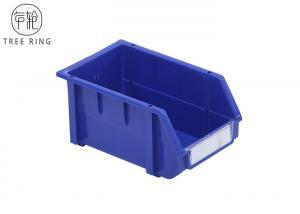 China 235 * 148 * 124mm Plastic Bin Boxes , Plastic Warehouse Storage Bins Shelving on sale