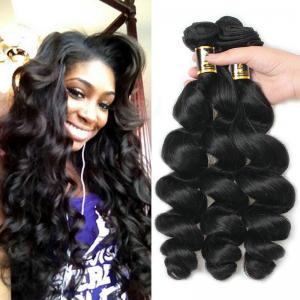 China Loose Wave 100 Indian Remy Human Hair Extensions 3bundles for Black Women on sale