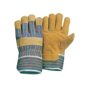 China heavy duty working Reinforced Palm industry Pig Leather Gloves / Glove 21002 on sale