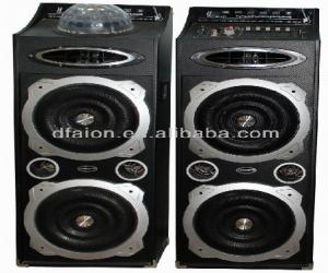 China Guangzhou Profesional active stage speaker dj equipment audio speaker with disco flashing light L-9210 on sale