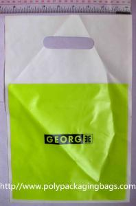 China Customized Plastic Die Cut Handle Bags Promotional Carrier Bags on sale