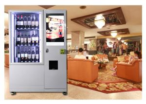 China Alcohol Salad Juice Vending Machine With Elevator , Automated Self Service Vending Machines on sale