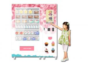 China Refrigerated Cooling Food Vending Machine , Healthy Meal Vending Machine With Microwave on sale