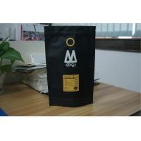 Sacs à thé noirs mats stratifiés empaquetant des sacs de café de papier d
