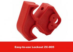 China MCCB Red Nylon Easy to Use Moulded Case Circuit Breaker Lockout on sale