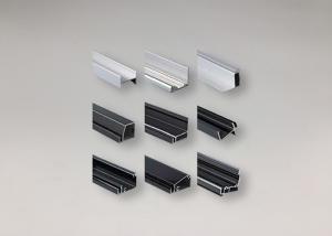 China Black Powder Coated Aluminum Solar Panel Aluminium Frame Max 25Um Thickness on sale