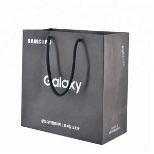 China Free sample Recycled Flat luxury gift paper bag kraft paper bag with handle on sale