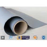 Chemical Resistant Gray Color Silicone Coated Fiberglass Fabric 160g Two Sides Coating