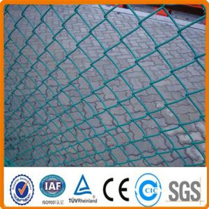 China PVC coated decorative chain link fence for green field protection on sale